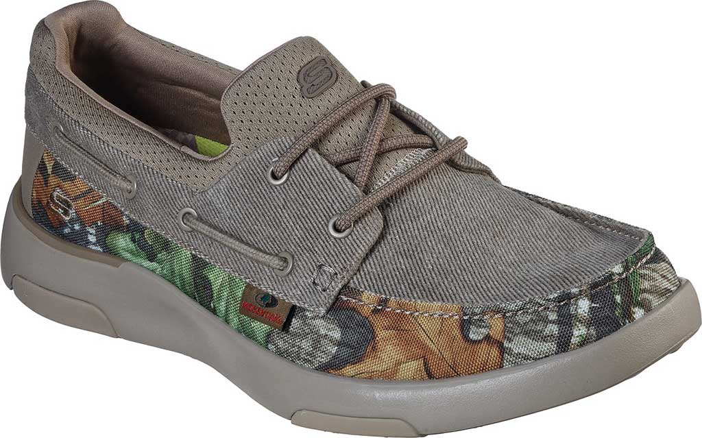 Men's Skechers Bellinger Garmo Boat Shoe, Camouflage, large, image 1