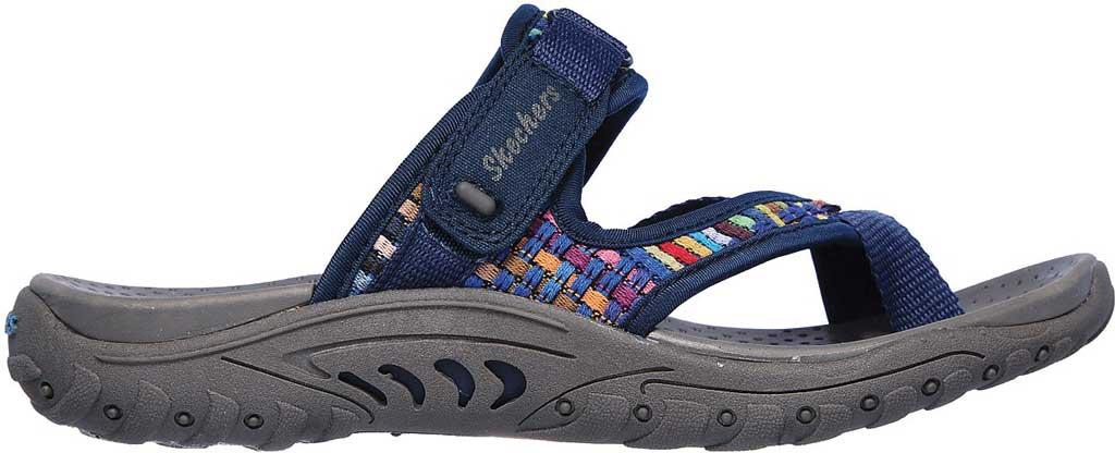 Women's Skechers Reggae Mad Swag Toe Loop Sandal, Navy, large, image 2