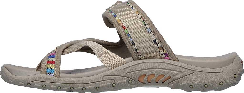 Women's Skechers Reggae Mad Swag Toe Loop Sandal, Dark Natural, large, image 3