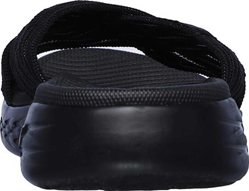 Women's Skechers On the GO 600 Sunrise Slide Sandal, Black/Black, large, image 4