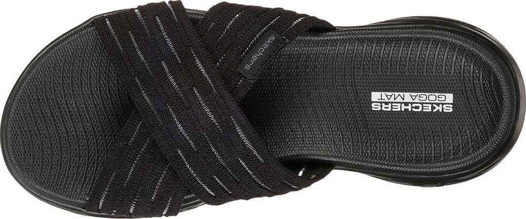 Women's Skechers On the GO 600 Sunrise Slide Sandal, Black/Black, large, image 5