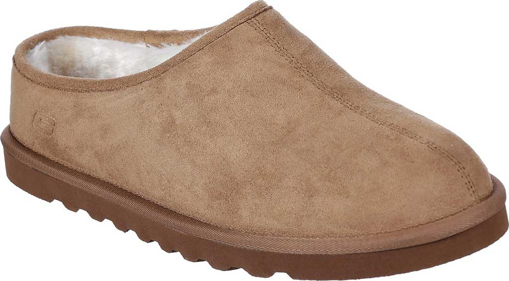 Men's Skechers Relaxed Fit Renten Lemato Clog Slipper, Tan, large, image 1