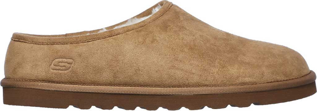 Men's Skechers Relaxed Fit Renten Lemato Clog Slipper, Tan, large, image 2