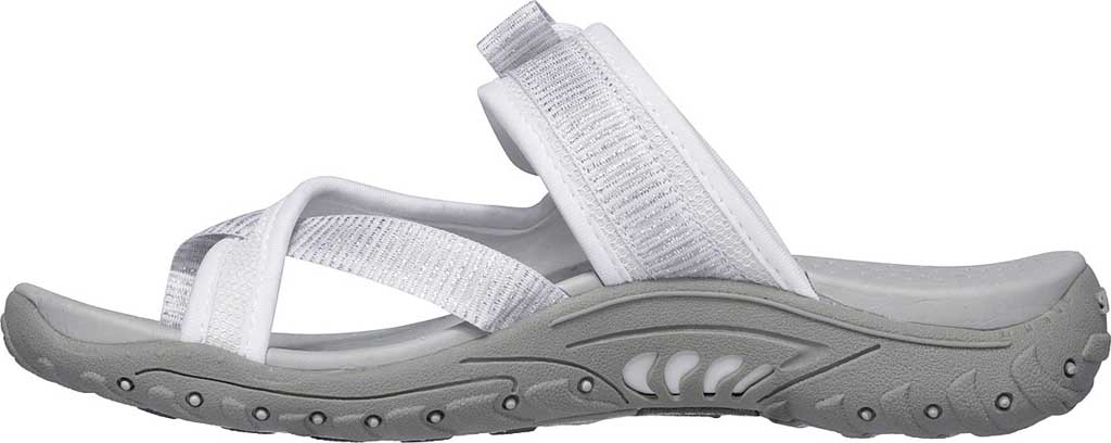 Women's Skechers Reggae Seize The Day Toe Loop Sandal, White, large, image 3