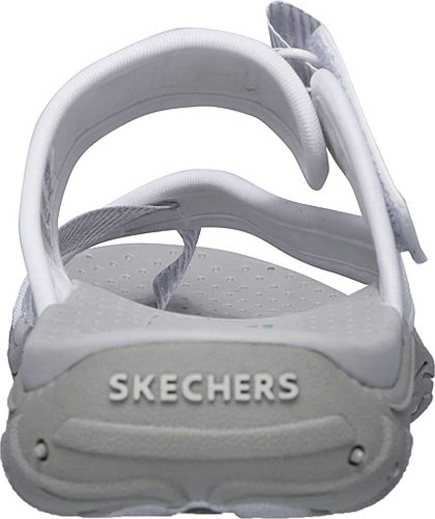 Women's Skechers Reggae Seize The Day Toe Loop Sandal, White, large, image 4