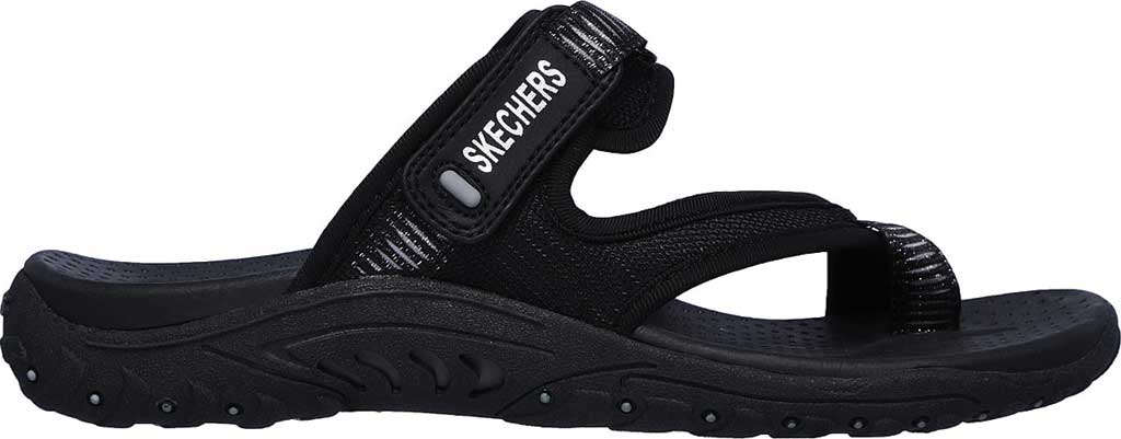 Women's Skechers Reggae Seize The Day Toe Loop Sandal, Black, large, image 2