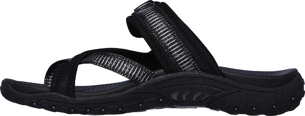 Women's Skechers Reggae Seize The Day Toe Loop Sandal, Black, large, image 3