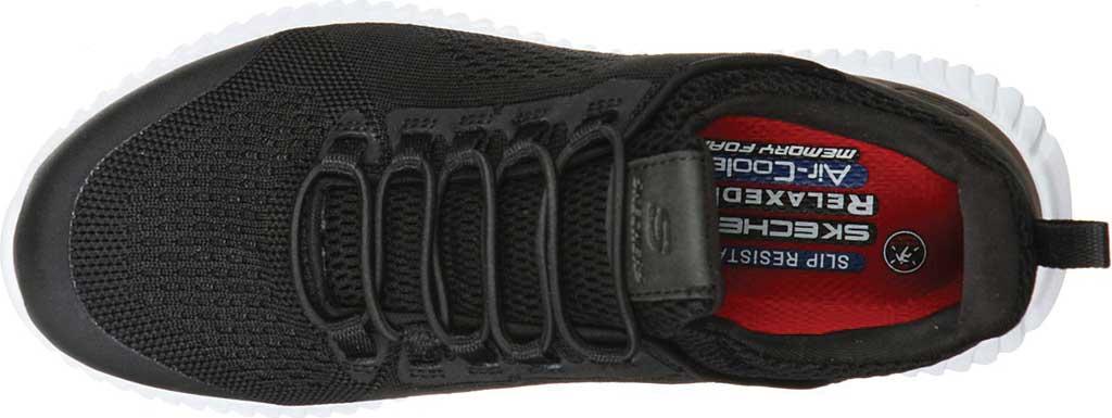 Women's Skechers Work Relaxed Fit Cessnock Carrboro SR Sneaker, Black/White, large, image 4