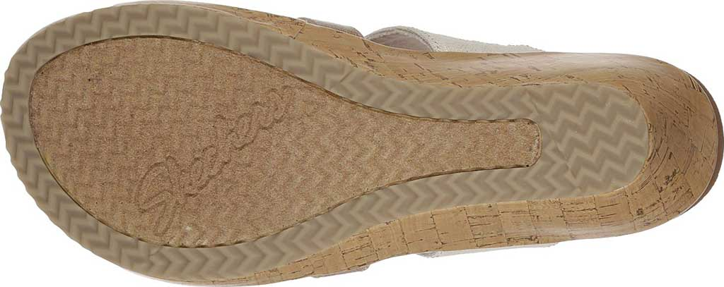 Women's Skechers Beverlee Sail Away Wedge Sandal, Natural, large, image 6
