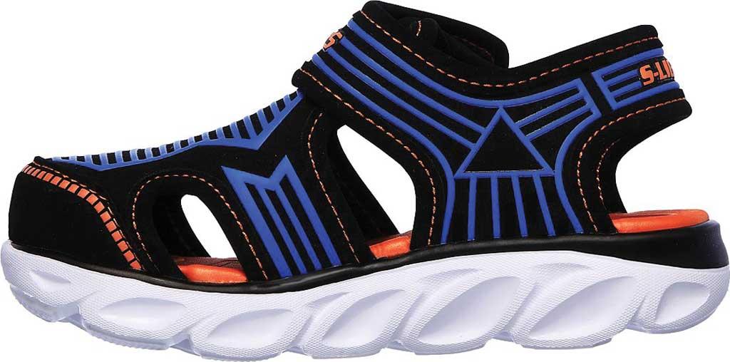 Infant Boys' Skechers S Lights Hypno-Splash Zotex Closed Toe Sandal, Black/Blue/Orange, large, image 3