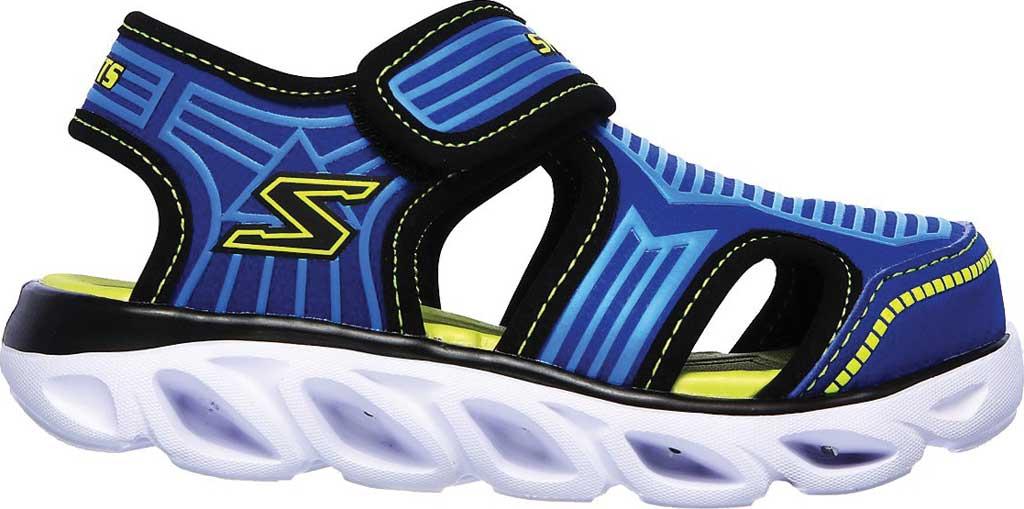 Infant Boys' Skechers S Lights Hypno-Splash Zotex Closed Toe Sandal, Blue/Lime, large, image 2