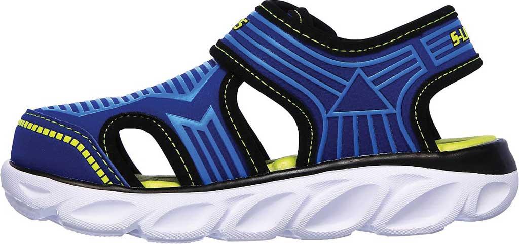 Infant Boys' Skechers S Lights Hypno-Splash Zotex Closed Toe Sandal, Blue/Lime, large, image 3