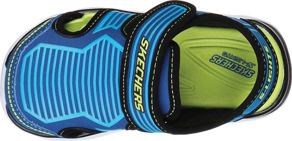 Infant Boys' Skechers S Lights Hypno-Splash Zotex Closed Toe Sandal, Blue/Lime, large, image 4