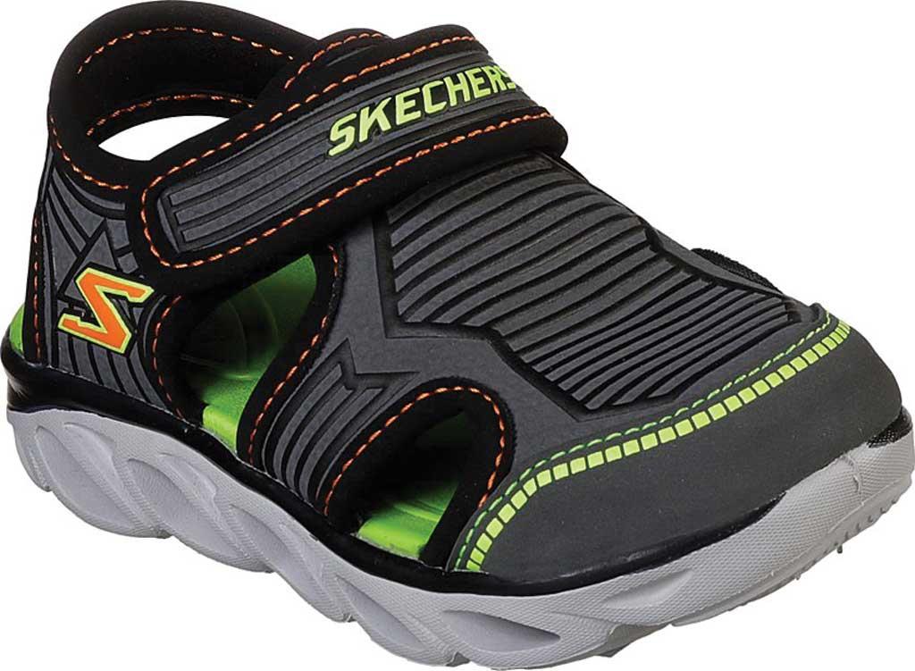 Infant Boys' Skechers S Lights Hypno-Splash Zotex Closed Toe Sandal, Charcoal/Black, large, image 1