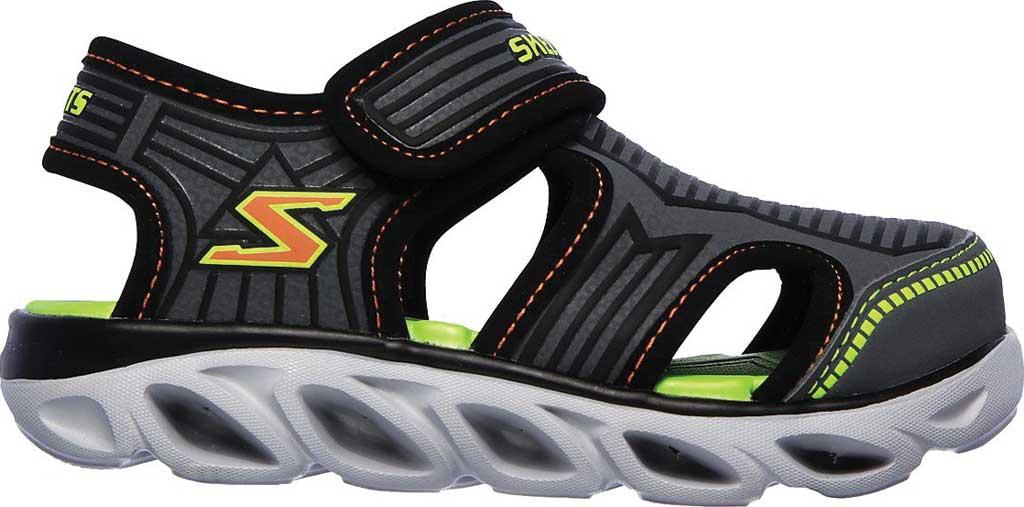 Infant Boys' Skechers S Lights Hypno-Splash Zotex Closed Toe Sandal, Charcoal/Black, large, image 2