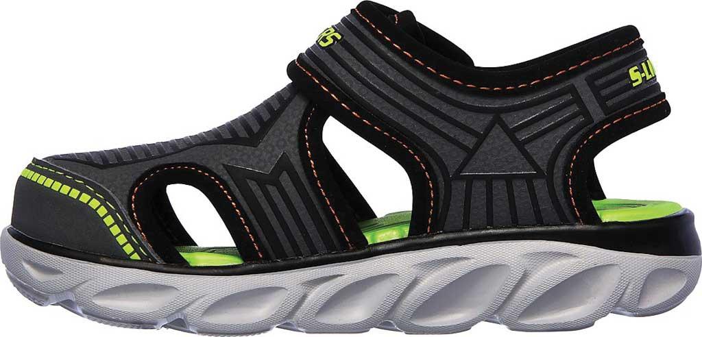 Infant Boys' Skechers S Lights Hypno-Splash Zotex Closed Toe Sandal, Charcoal/Black, large, image 3