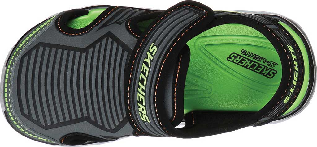 Infant Boys' Skechers S Lights Hypno-Splash Zotex Closed Toe Sandal, Charcoal/Black, large, image 4