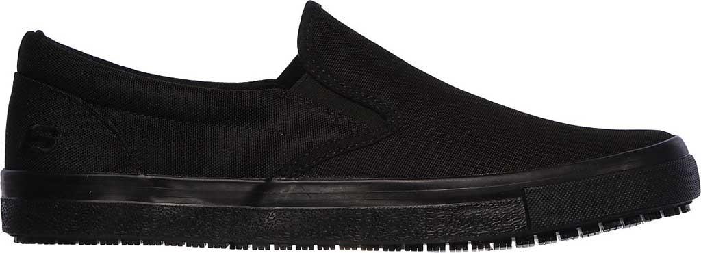 Men's Skechers Work Relaxed Fit Sudler Dedham SR Slip-On Shoe, Black, large, image 2