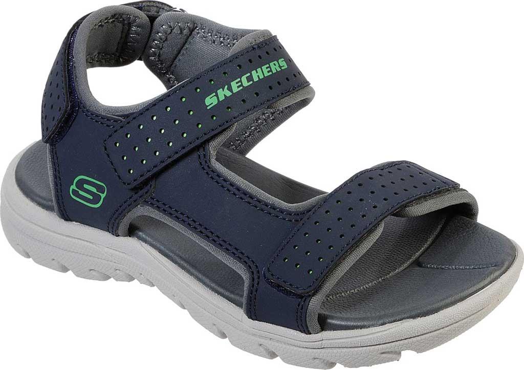 Boys' Skechers Supreme River Blast Sport Sandal, Navy, large, image 1