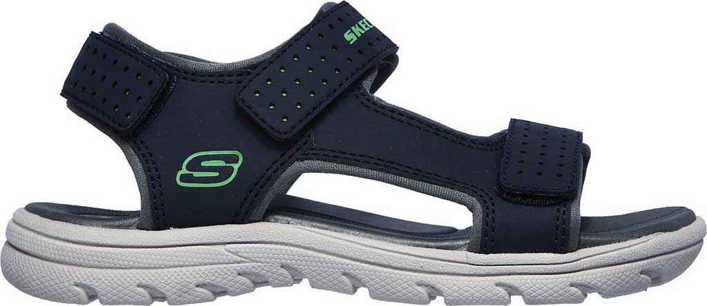 Boys' Skechers Supreme River Blast Sport Sandal, Navy, large, image 2