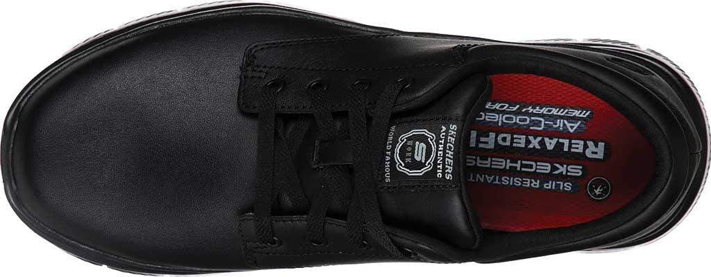 Men's Skechers Work Relaxed Fit Flex Advantage Fourche SR Oxford, Black, large, image 4