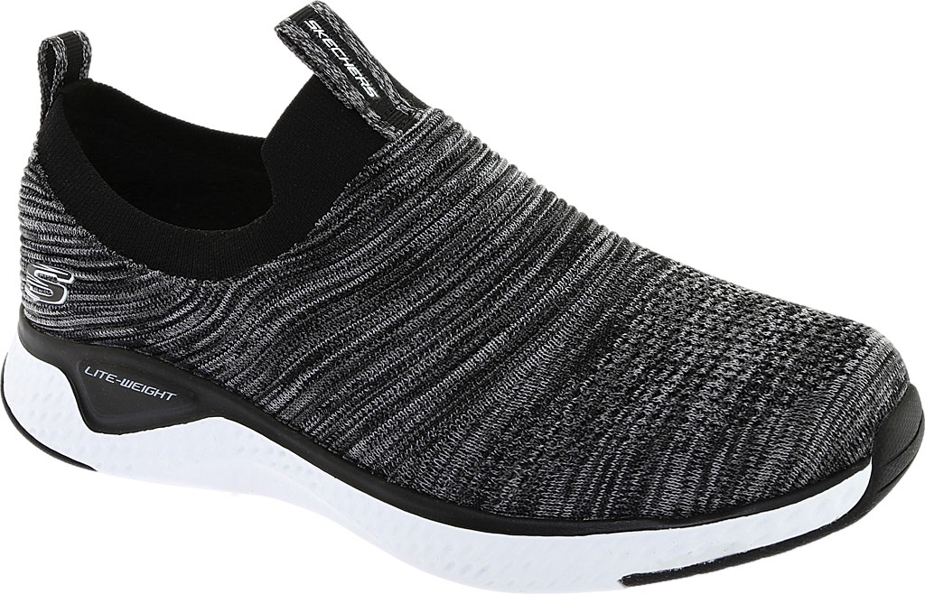 Men's Skechers Solar Fuse Sneaker, Black/White, large, image 1