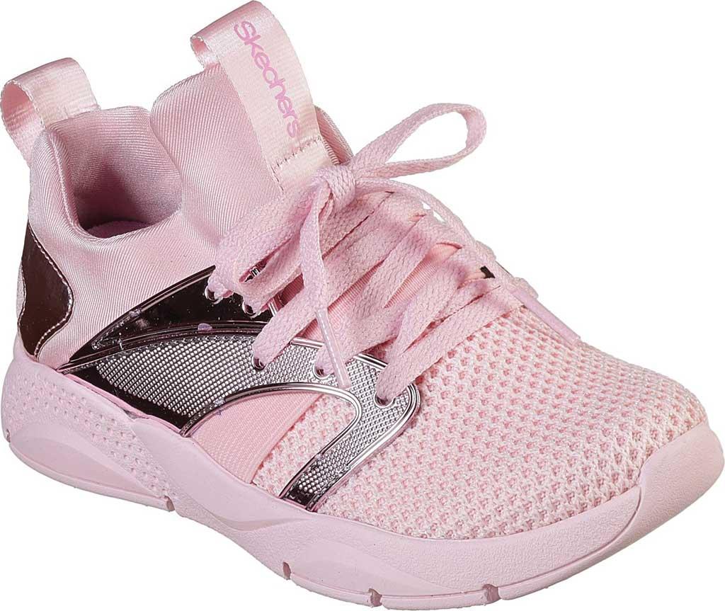 Children's Skechers Shine Status Metallic Sneaker, Light Pink, large, image 1