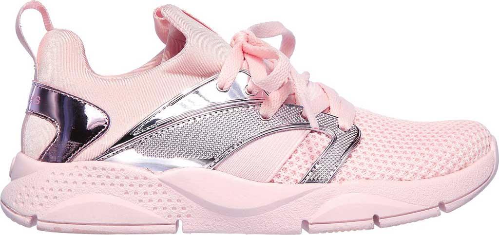 Children's Skechers Shine Status Metallic Sneaker, Light Pink, large, image 2