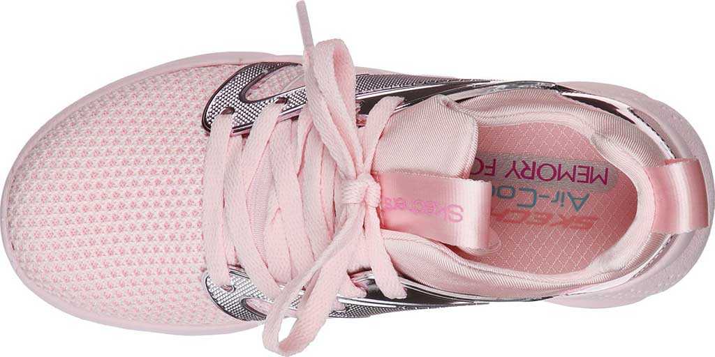 Children's Skechers Shine Status Metallic Sneaker, Light Pink, large, image 4