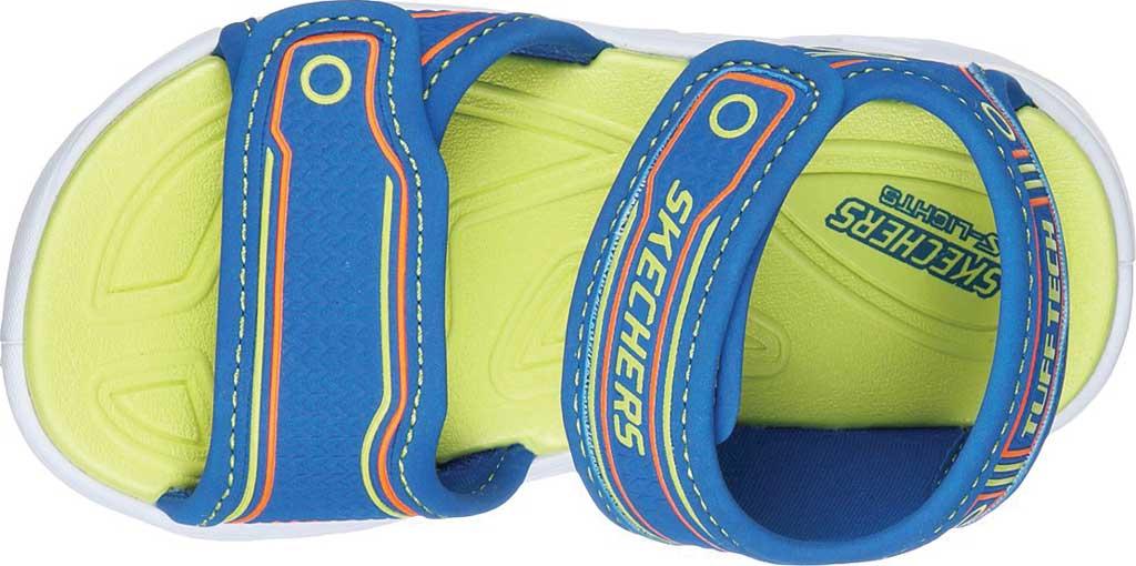 Infant Boys' Skechers Hypno-Flash 3.0 Sport Sandal, Blue/Lime, large, image 4