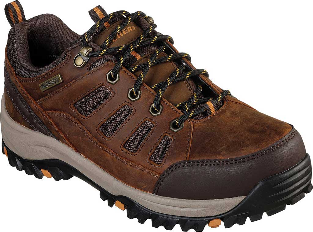 Men's Skechers Relaxed Fit Relment Semego Hiking Shoe, Brown, large, image 1