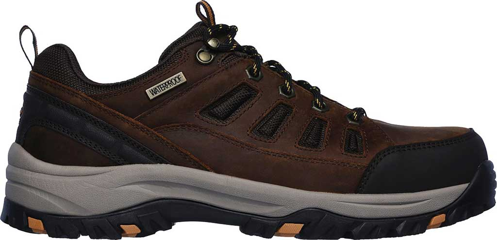 Men's Skechers Relaxed Fit Relment Semego Hiking Shoe, Brown, large, image 2