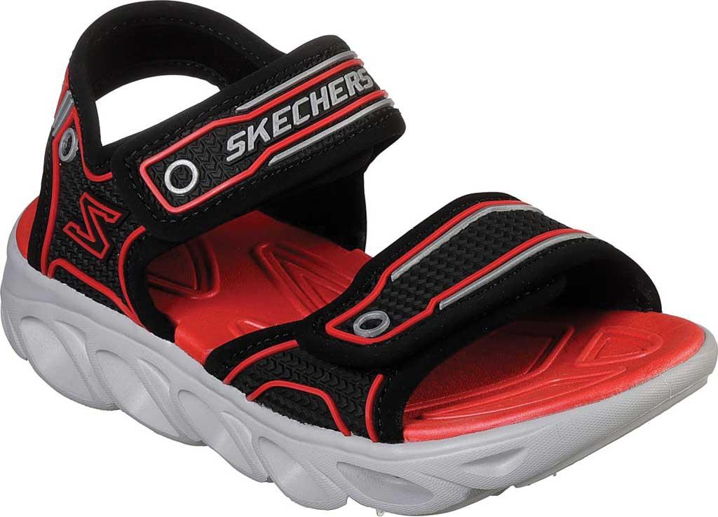 Boys' Skechers Hypno-Flash 3.0 Sport Sandal, Black/Red, large, image 1
