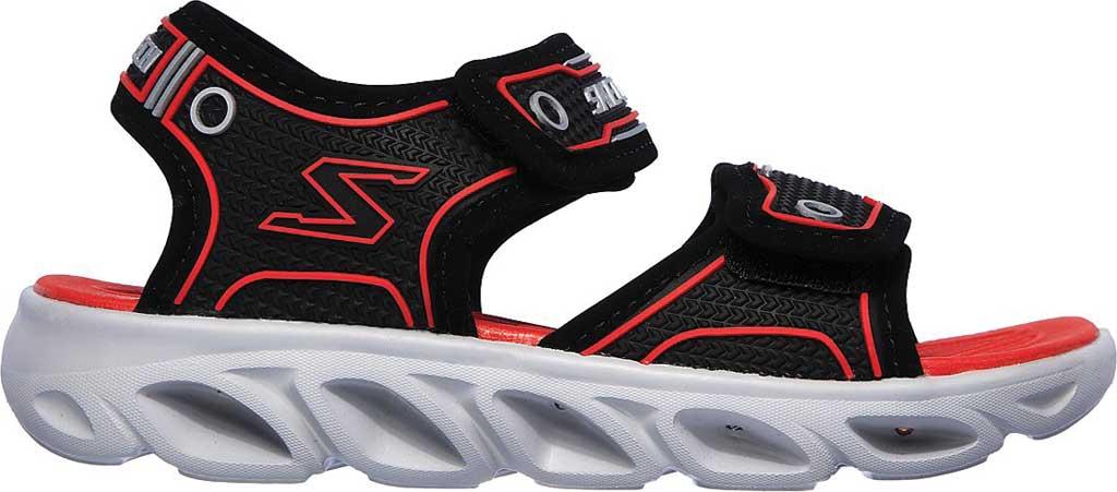Boys' Skechers Hypno-Flash 3.0 Sport Sandal, Black/Red, large, image 2