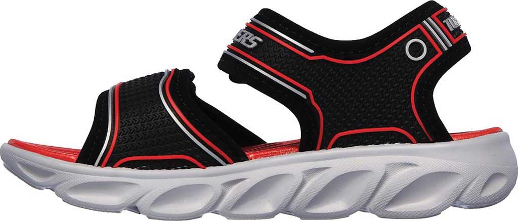Boys' Skechers Hypno-Flash 3.0 Sport Sandal, Black/Red, large, image 3