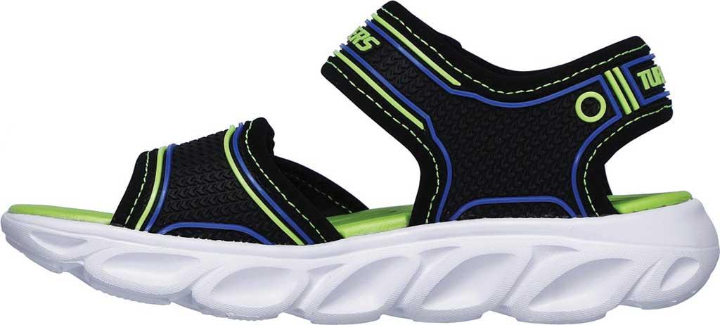 Boys' Skechers Hypno-Flash 3.0 Sport Sandal, Black/Blue/Lime, large, image 3