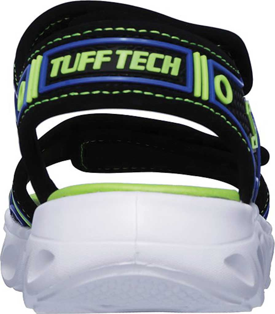 Boys' Skechers Hypno-Flash 3.0 Sport Sandal, Black/Blue/Lime, large, image 4