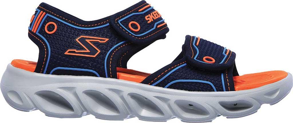 Boys' Skechers Hypno-Flash 3.0 Sport Sandal, Navy/Orange, large, image 2