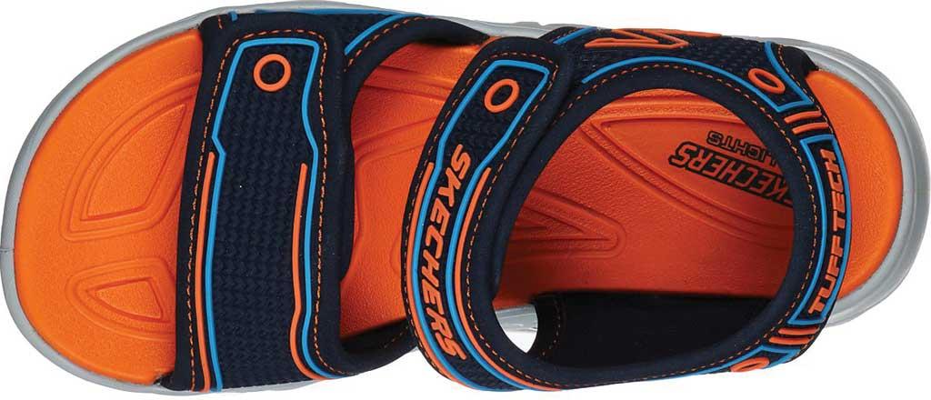 Boys' Skechers Hypno-Flash 3.0 Sport Sandal, Navy/Orange, large, image 4