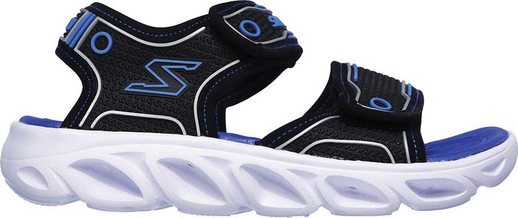 Boys' Skechers Hypno-Flash 3.0 Sport Sandal, Black/Blue, large, image 2