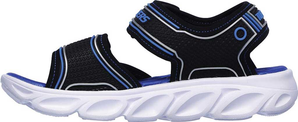Boys' Skechers Hypno-Flash 3.0 Sport Sandal, Black/Blue, large, image 3