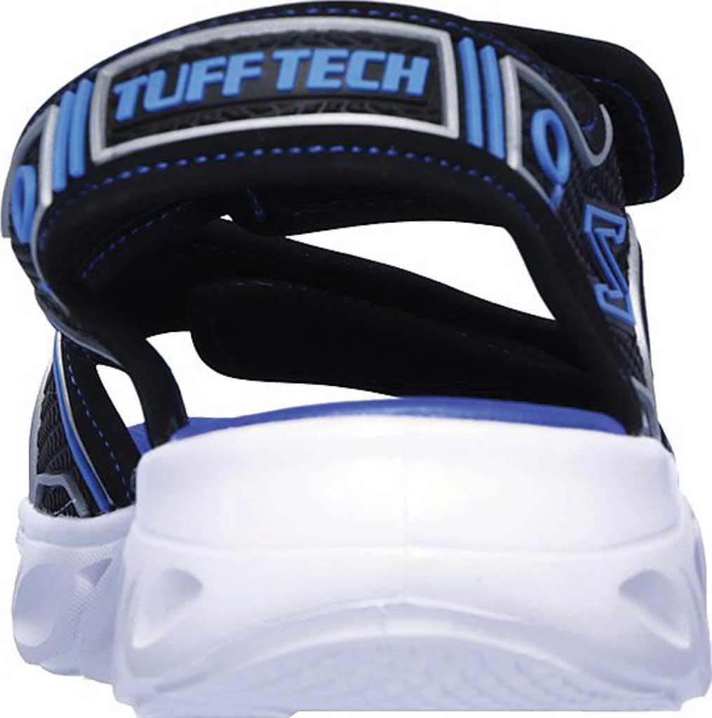 Boys' Skechers Hypno-Flash 3.0 Sport Sandal, Black/Blue, large, image 4