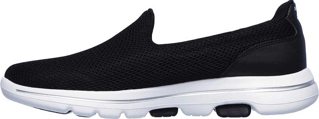 Women's Skechers GOwalk 5 Walking Shoe, Black/White, large, image 3