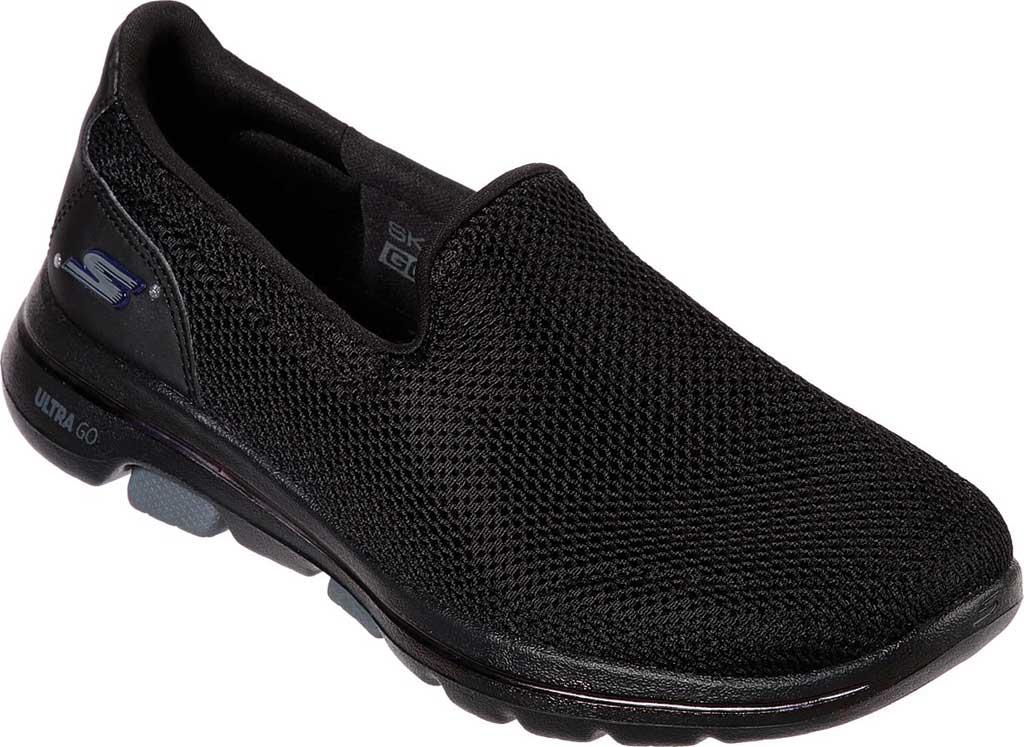 Women's Skechers GOwalk 5 Walking Shoe, Black/Black, large, image 1