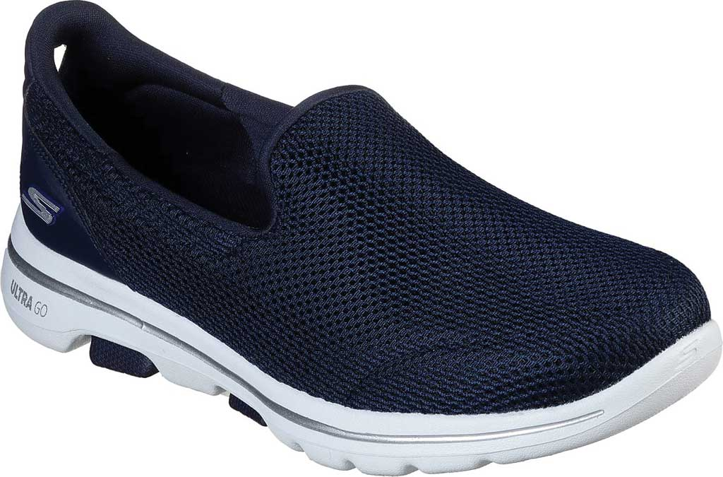 Women's Skechers GOwalk 5 Walking Shoe, Navy/White, large, image 1