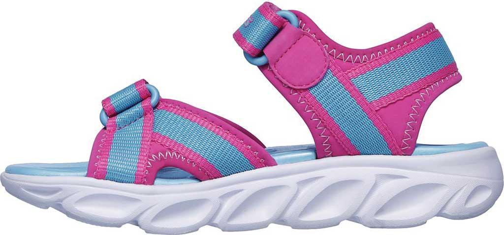 Girls' Skechers S Lights Hypno-Splash Splash Zooms Sport Sandal, Hot Pink/Turquoise, large, image 3