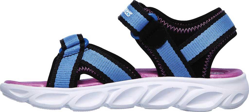 Girls' Skechers S Lights Hypno-Splash Splash Zooms Sport Sandal, Black/Blue, large, image 3
