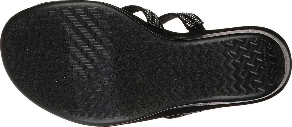 Women's Skechers Rumblers Mega Flash Slide Wedge Sandal, Black/Silver, large, image 6