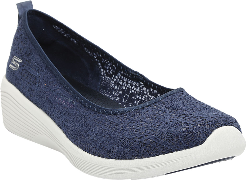 Women's Skechers Arya Airy Days Skimmer, Navy, large, image 1