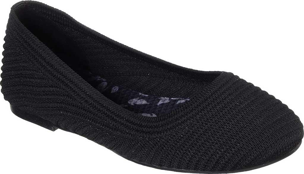 Women's Skechers Casey Ballet Flat, Black, large, image 1